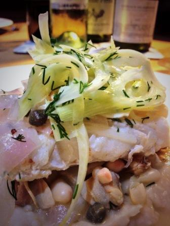 Clare Smyth's brill with fennel and seaweed