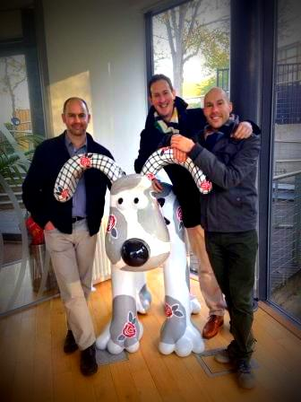 With the Clarke Brothers and...Gromit