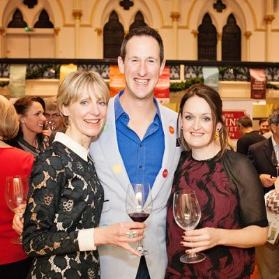 Susie, Peter and Claire at Wine Festival Winchester, credit Catherine Skinner Photography