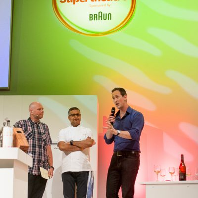 Peter Richards MW on the BBC Good Food Show Supertheathre, credit 255Photography