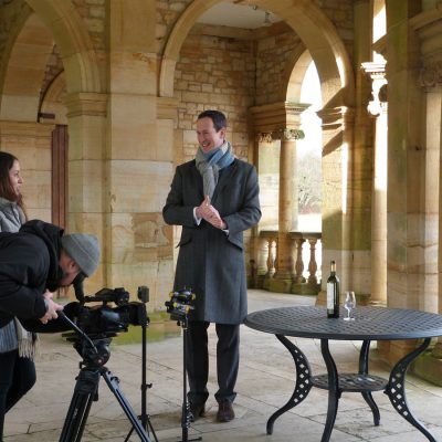 Peter Richards MW filming on location