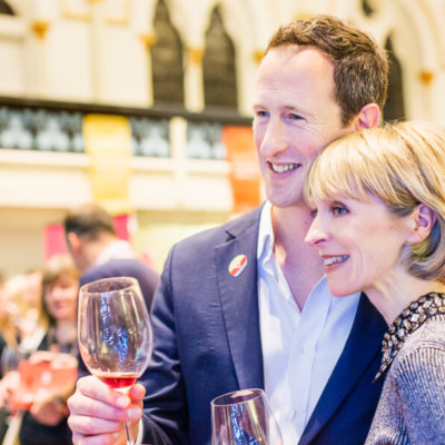 Susie & Peter at Wine Festival Winchester - credit Cath Lowe