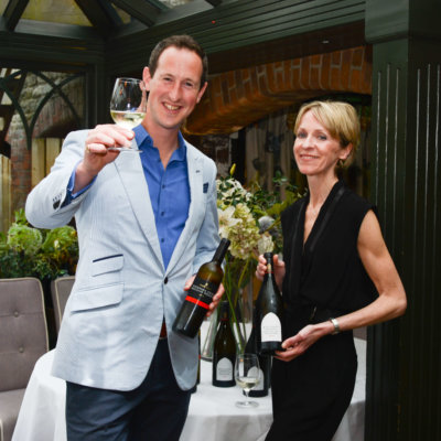 Susie and Peter toast English wine - credit Emma Dodsworth