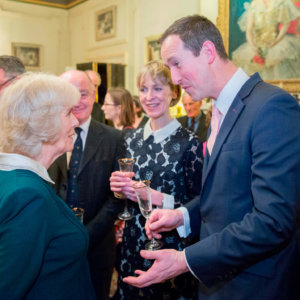 Susie and Peter with HRH Camilla Duchess of Cornwall