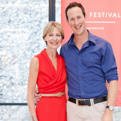 Susie Barrie MW and Peter Richards MW launching Wine Festival Winchester, photo by Catherine Skinner Photography