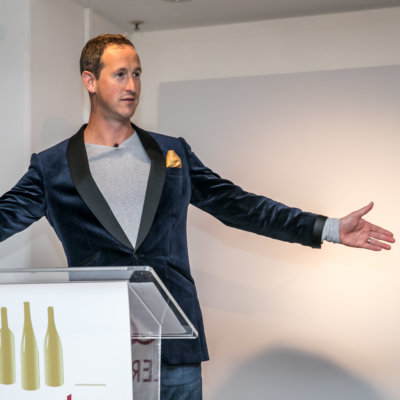 Peter hosting the Decanter Retailer Awards, credit: Decanter