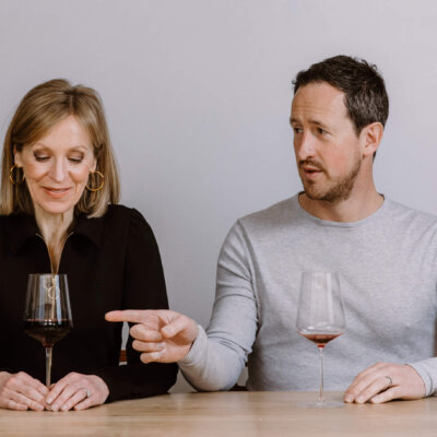 Susie Barrie and Peter Richards, Masters of Wine, credit: Sam Gavins Photography